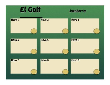 Spanish Five Verb Tense Review Golf