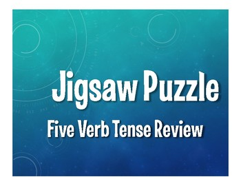 Spanish Five Verb Tense Review Jigsaw Puzzle
