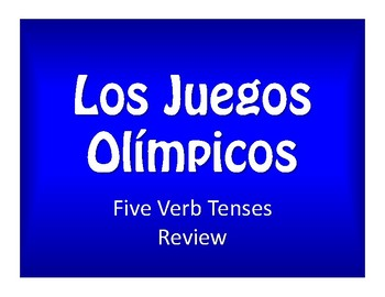 Spanish Five Verb Tense Review Olympics