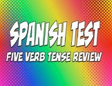 Spanish Five Verb Tense Review Test