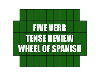 Spanish Five Verb Tense Review Wheel of Spanish