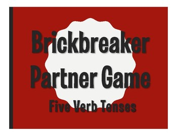 Spanish Five Verb Tenses Brickbreaker Partner Game