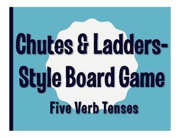 Spanish Five Verb Tenses Chutes and Ladders-Style Game