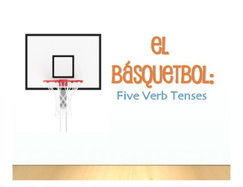 Spanish Five Verb Tenses Review Basketball