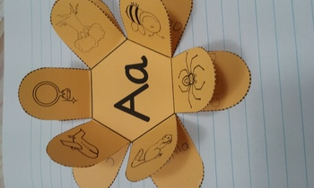 Spanish Five  Vowels Interactive Notebook Activity