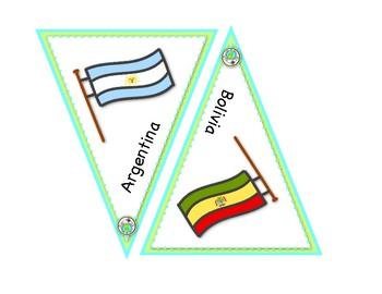 Spanish Flag Banner Printable Bulletin Board Pennants