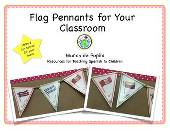 photo regarding Printable Spanish Flag referred to as Spanish Flag Banner Printable Bulletin Board Pennants by way of