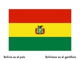 Spanish Flags and Nationalities