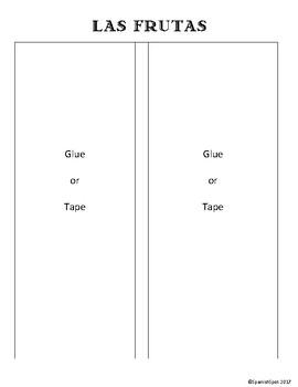 Spanish Flap / Interactive Notebook Page- Las Frutas