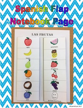 Spanish Flap / Interactive Notebook Page- Las Frutas
