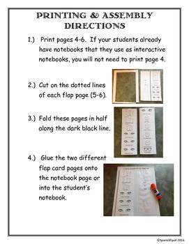 Spanish Flap Notebook Page- Características Físicas