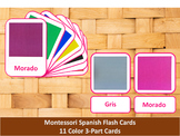 Spanish Flash Cards // Colors // 11 Cards (Montessori)