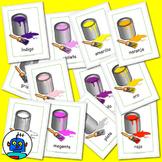 Spanish Flash Cards - Colors. Rojo, verde, amarillo, oro, plata, rosa, amarillo