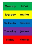 Spanish Flash Cards- Days of the Week