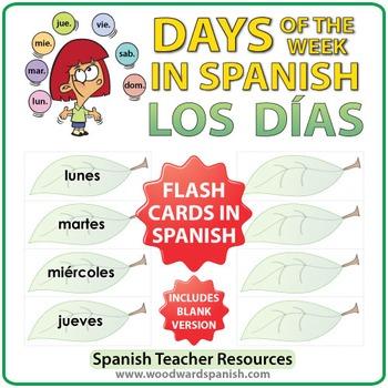 Spanish Flash Cards - Days of the Week - Los días de la semana