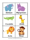 Spanish Flash Cards (Jungle and Tropical Animals)