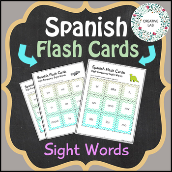 Spanish Flash Cards - Sight Words