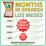 Spanish Flash Cards - Months of the Year - Los Meses
