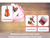 Spanish Flash Cards // Musical Instruments // 12 Cards (Mo