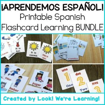 Spanish Flashcard Learning Bundle - ¡Aprendemos Español!