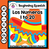 Spanish for Beginners Flashcards 1-20 including Tengo,  Qu
