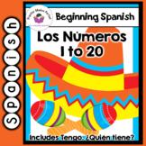 Spanish Flashcards 1-20 including Tengo,  Quién tiene
