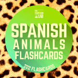 Spanish Animals Flashcards {Large and Small Flashcards + Handouts}  37 Animals