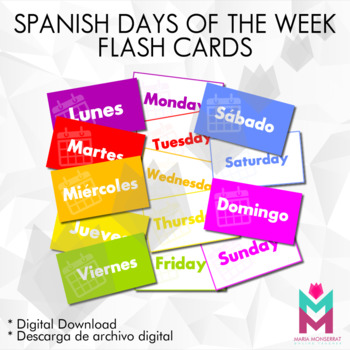 Spanish Flashcards: 'Days of the week'