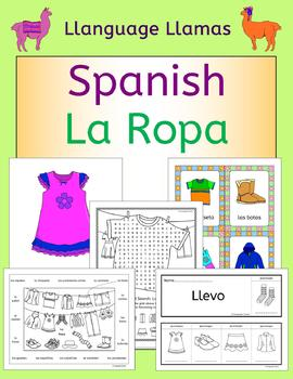 Spanish Clothing - La Ropa - Fun activities, games, puzzle