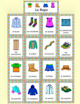 Spanish Clothing - La Ropa - Fun activities, games, puzzles and more