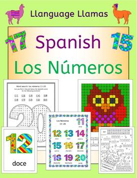 Spanish Numbers Los Numeros - activities, puzzles, bingo, flashcards