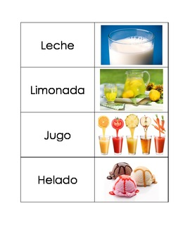 Spanish Flashcards: Miscellaneous Food