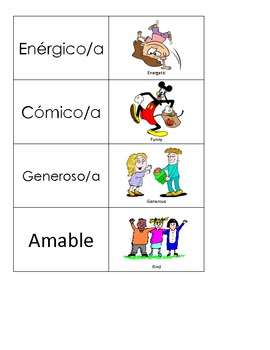 Spanish Flashcards: Personality Adjectives