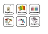 Spanish Flashcards SCHOOL ITEMS and some adjectives, verbs