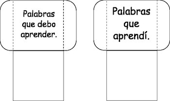 Spanish Flashcards Template