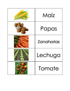 Spanish Flashcards: Vegetables
