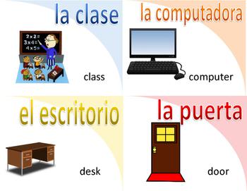 Spanish Flashcards-everyday words