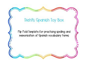 Spanish Flip Fold Template