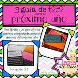 Advice for Next Year Flipbook (3-5) Spanish & English Libreta para próximo año