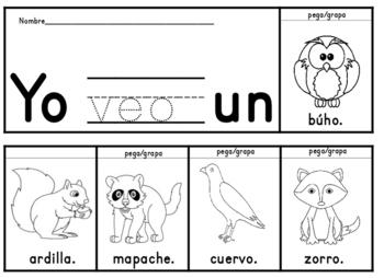 Spanish Flip books del Otono y palabras de alto uso Spanish Fall flip books