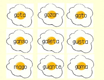 "Spanish ""Flip the Sound"": reading soft and hard g and c words"