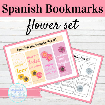 Spanish Flower Bookmarks