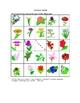 Spanish Flower Picture Bingo and Hidden Words Game