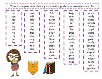Spanish Fluency Boxes