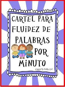 Fluency Reading Chart: Cartel para la fluidez de lectura