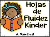 Spanish Fluency Homework for Kinder