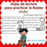 Spanish Fluency Practice- Fall themed passages for early readers