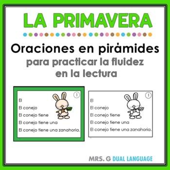 Spanish Fluency Practice Spring Pyramid Sentences
