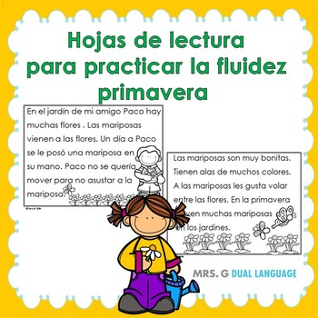 Spanish Fluency Practice- Spring themed passages for early