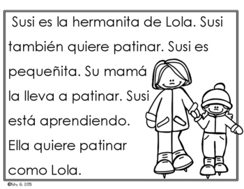 Spanish Fluency Practice- Winter themed passages for early readers